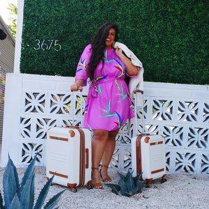 ASOS Curve magenta pattern dress